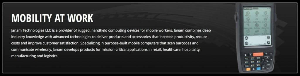 Janam Mobility at Work