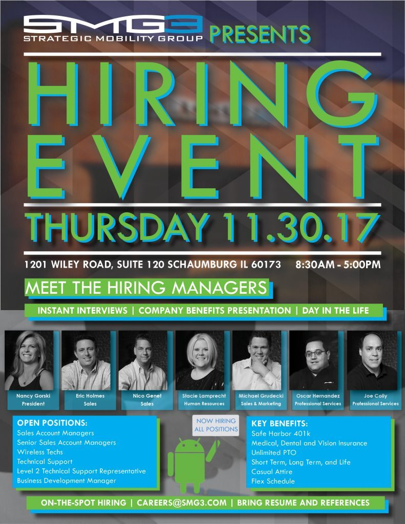 Hiring Event 2017 Flyer