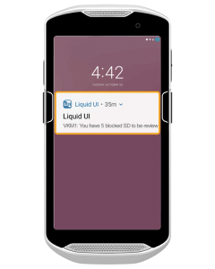 Send alerts to your users via notification – directly to their mobile device